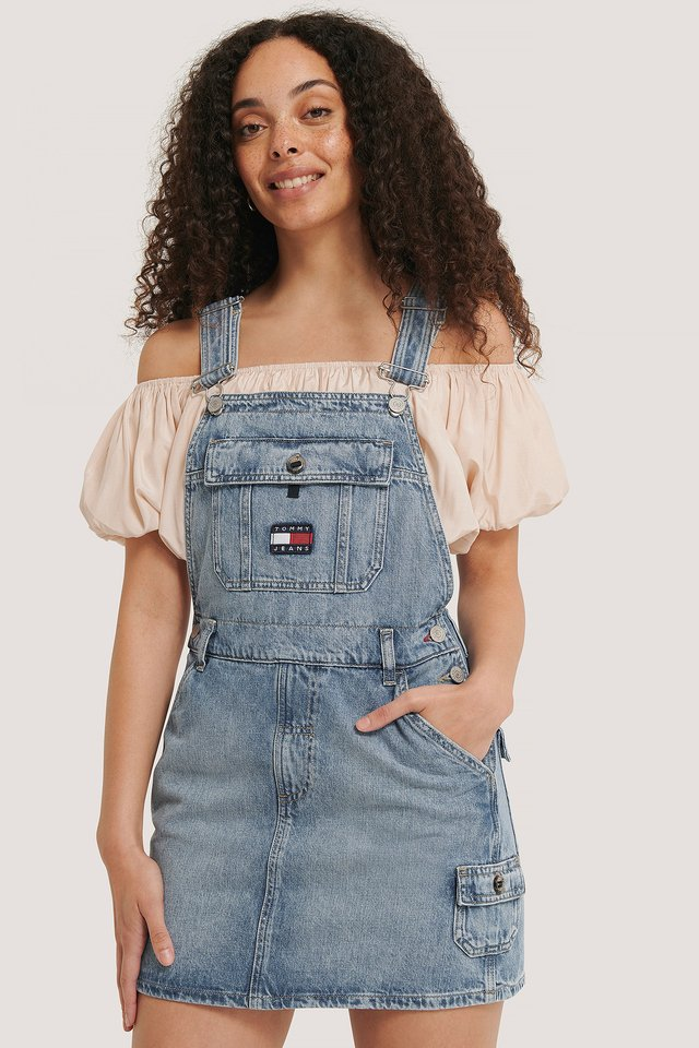 Denim Dungaree Dress
