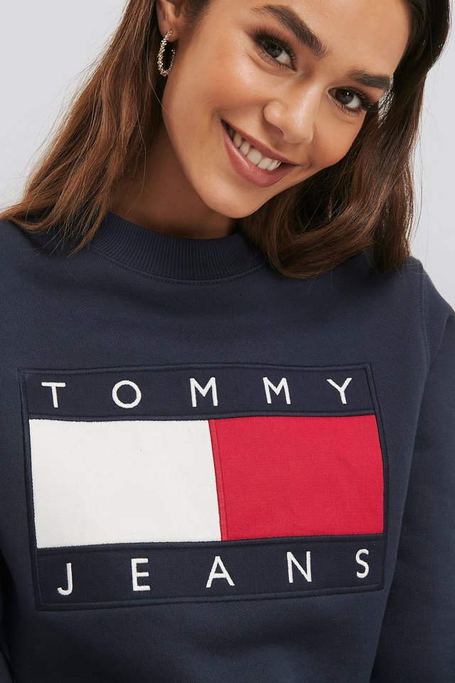 Tommy Flag Crew Black Iris