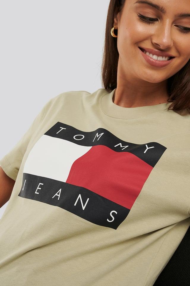 Tommy Flag Tee Khaki