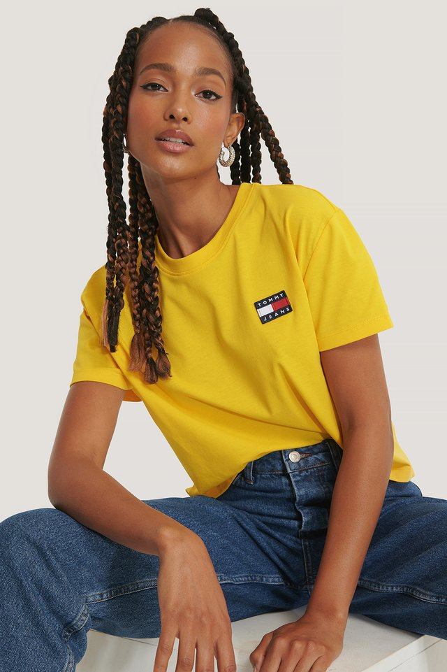 Yellow Tommy Badge T-Shirt
