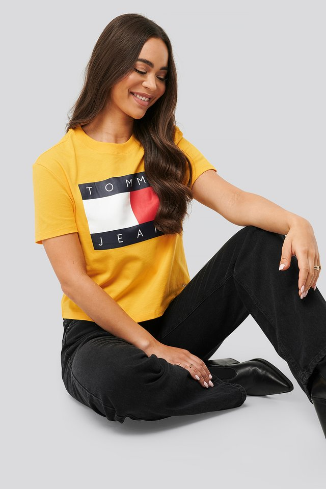 Tommy Flag Tee Yellow
