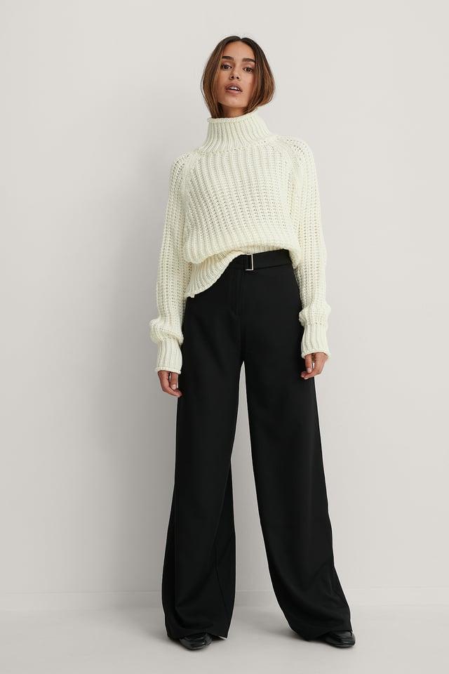 Wide Leg Trousers Black