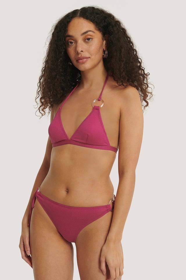 Bikinialaosa Rengasdetaljilla Pink