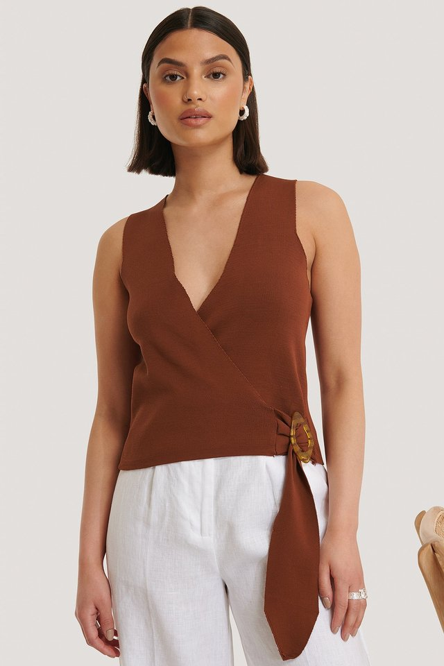 Ally Top Brown