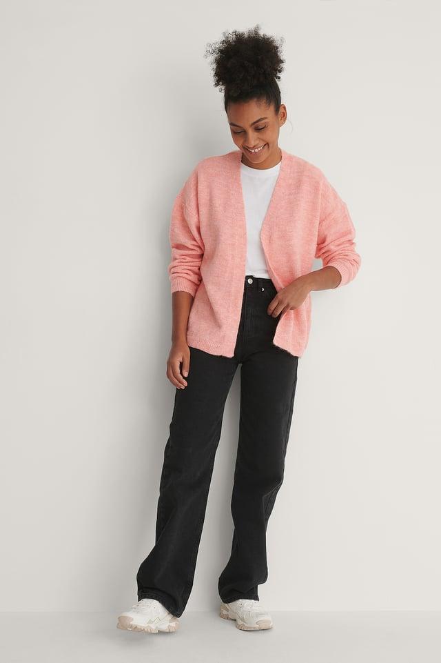 Pink Amy Knit Cardigan