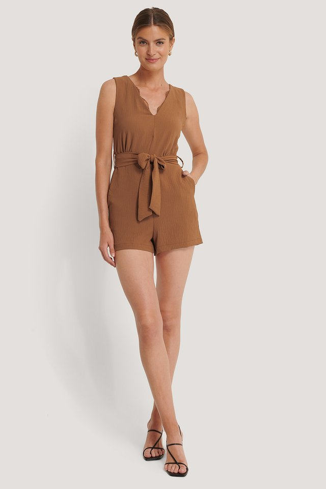 Playsuit Vyöllä Tobacco
