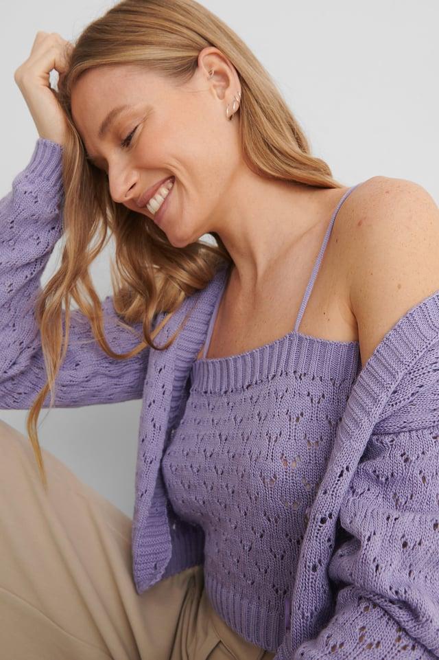 Lila Blouse Cardigan Knit Set