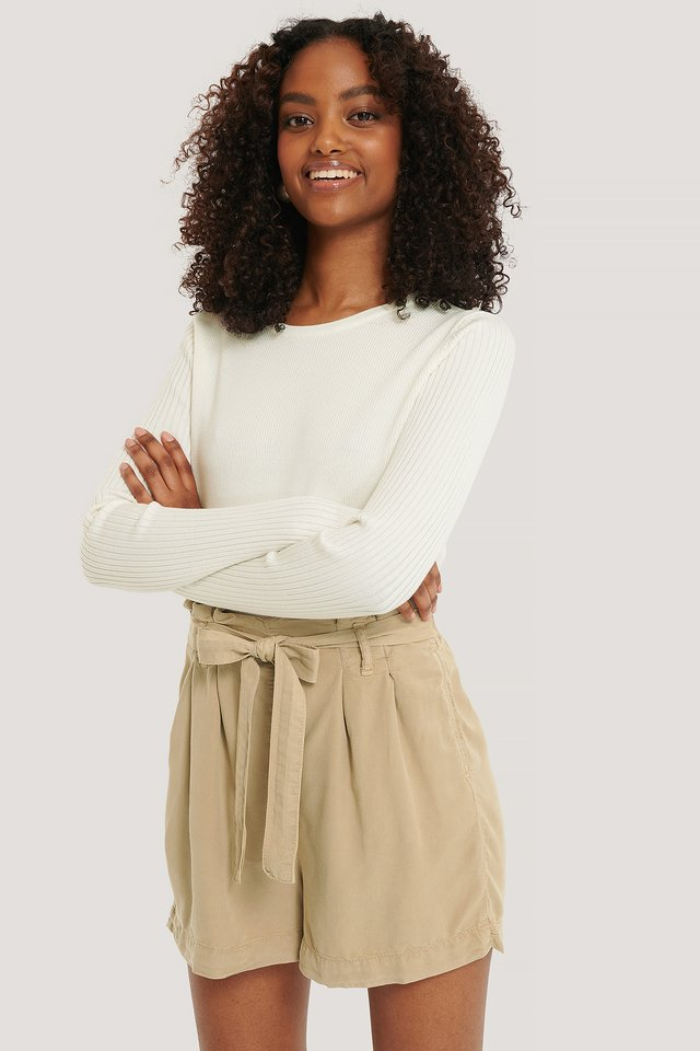 Camel Paperbag-Shorts
