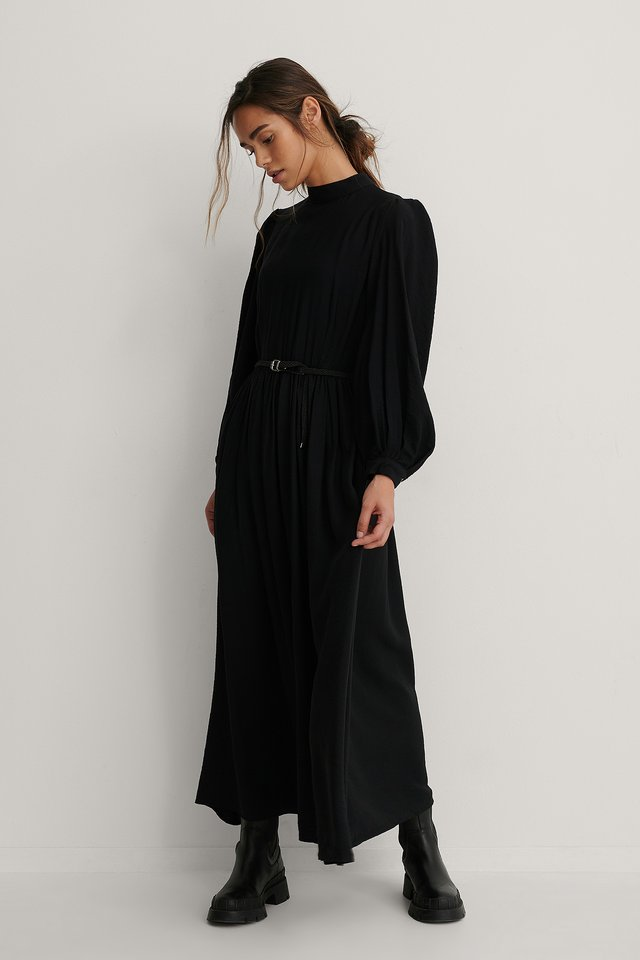 Carmen Belt Long Dress Black