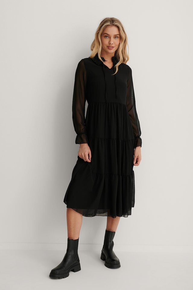 Carmen Long Dress Black