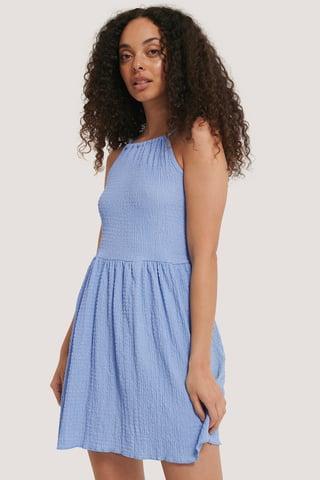 Blue Carmen Mini Dress