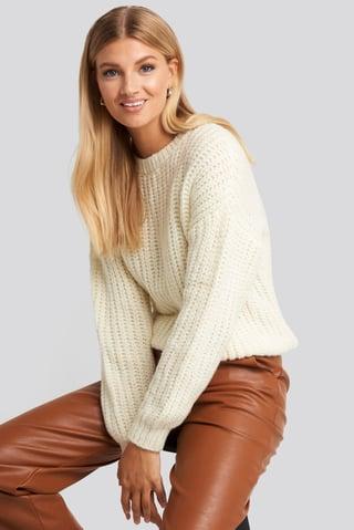Ecru Crew Neck Sweater