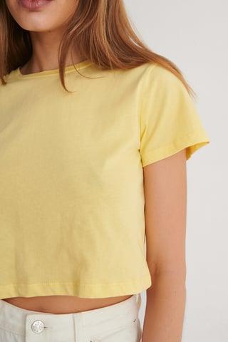 Yellow Croppad T-Shirt