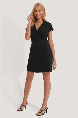 Black Dwurzędowa Sukienka