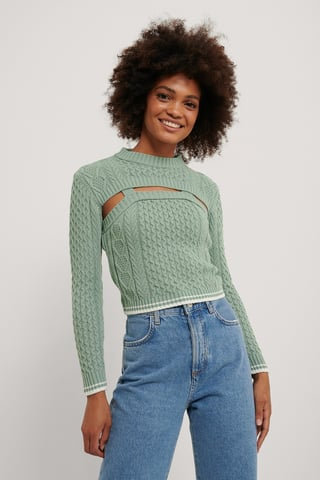 Mint Double Knit Top