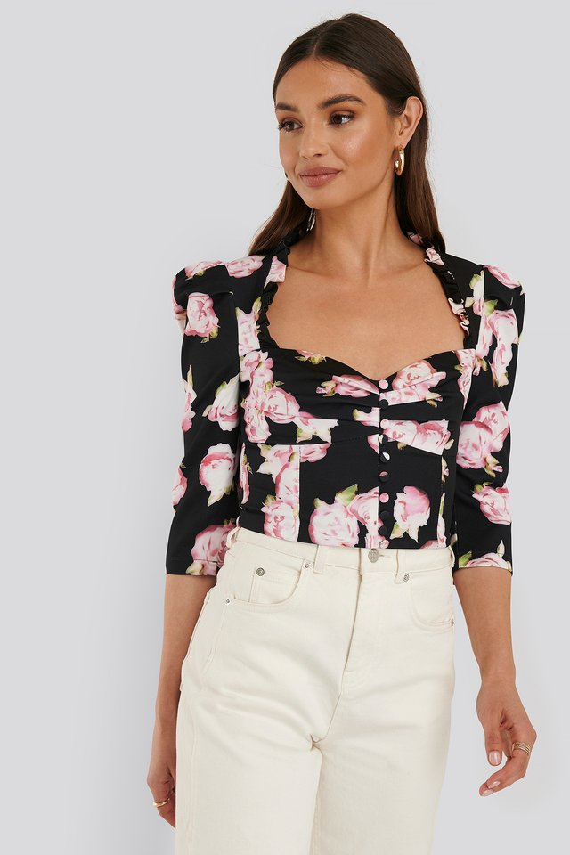 Floral Printed Blouse Multicolor