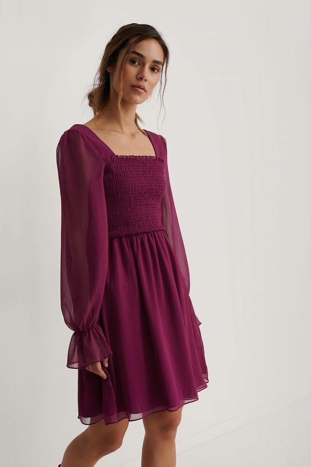 Giped Mini Dress Damson
