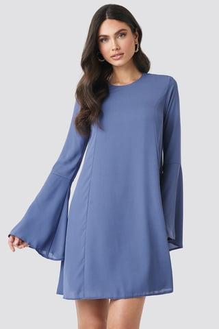 Blue Handles Flywheel Mini Dress