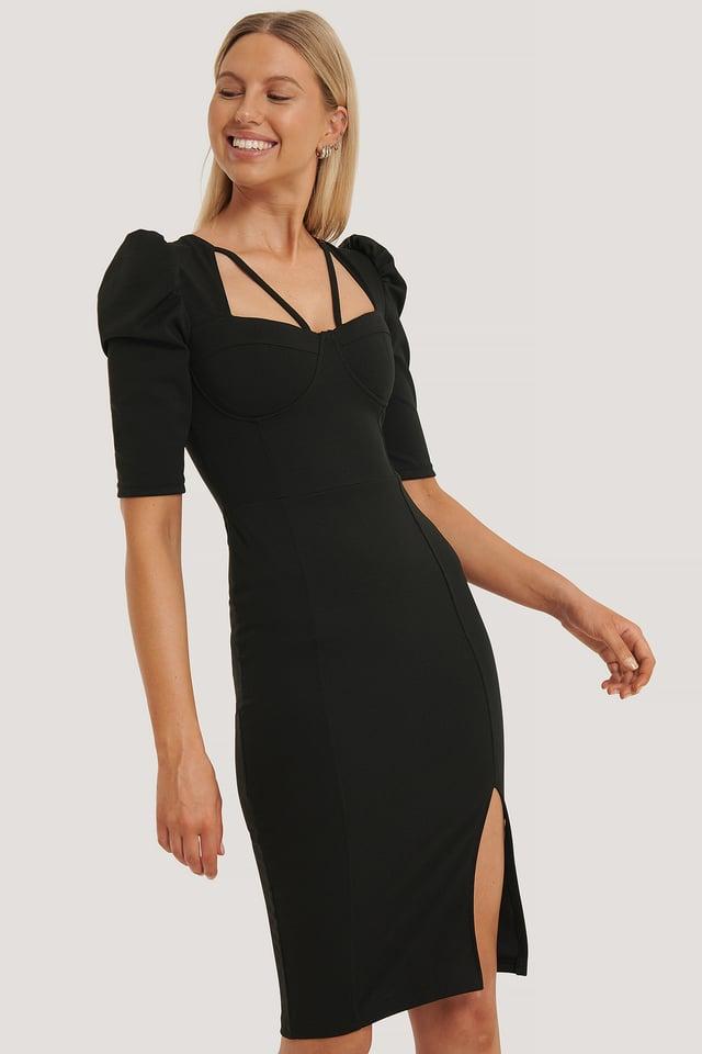 Handle Midi Dress Black