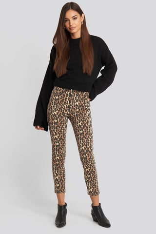 Black High Belly Skinny Jeans