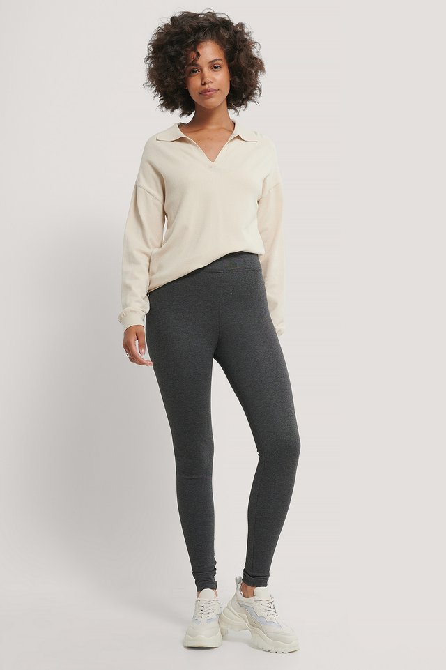 High Waist Compression Tights Antracite