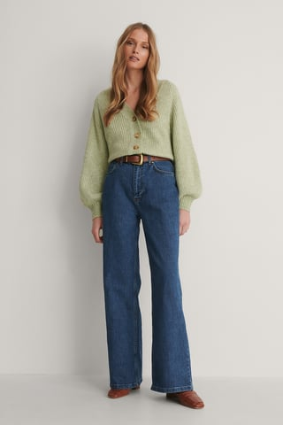 Blue Milla High Waist Wide Jeans