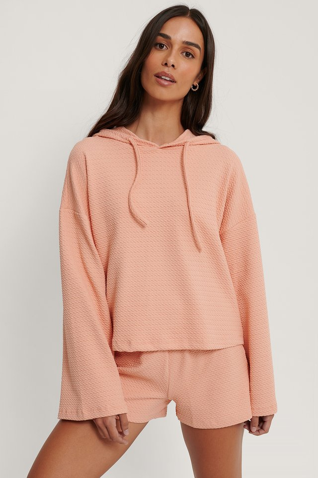 Väljästi Istuva Pyjamasetti Powder Pink