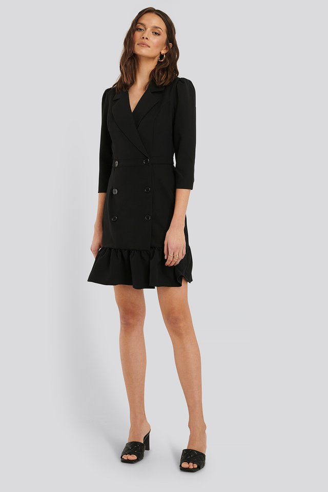 Jacket Mini Dress Black