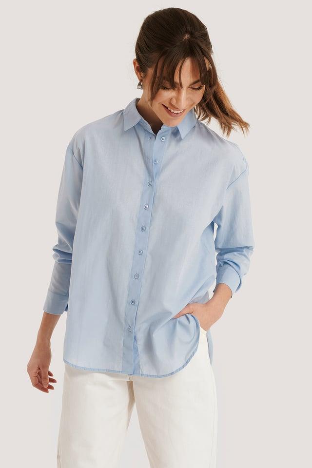 Loose Fit Shirt Blue