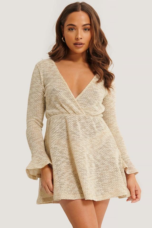 Lurexli Beach Dress Beige