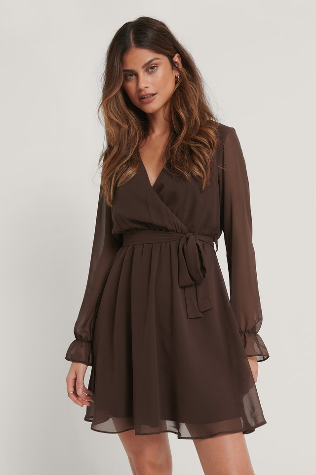 Minikleid Brown