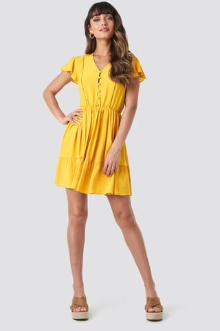 Mustard Milla Mini Dress