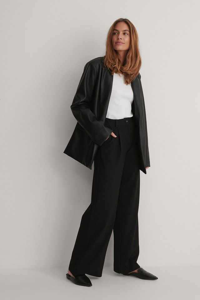 Black Milla Basic Trousers