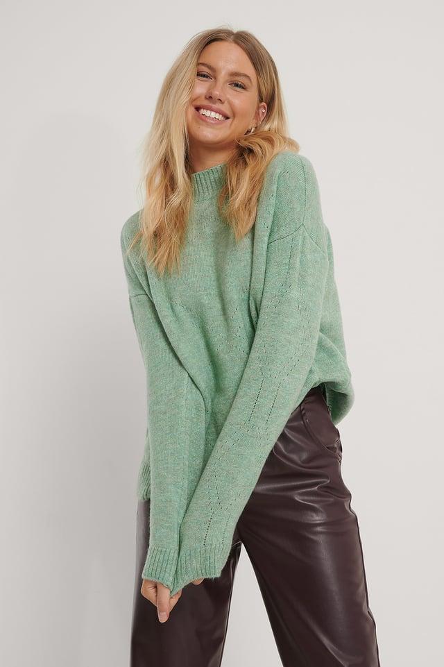Milla Knit Sweater Mint