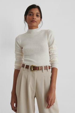 Ecru Milla Knit Sweater