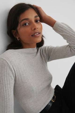 Gray Milla Knit Sweater