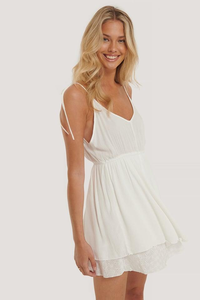 Milla Short Dress White