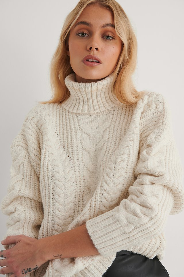 Ecru Milla Turtleneck Sweater