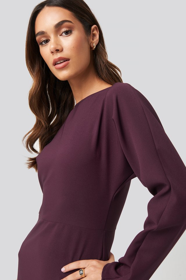 Mini  Basic Dress Purple