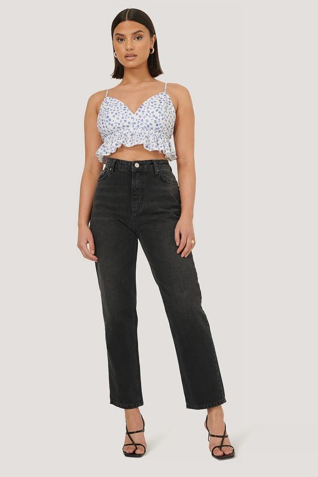 Black Organic High Waist Jeans