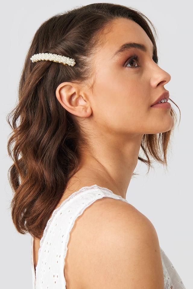 Pearl Hair Clip Gold