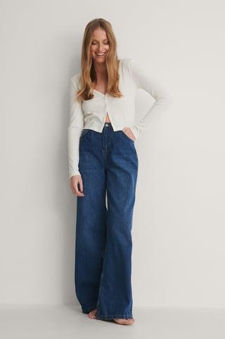 Blue Jeans Med Høyt Liv