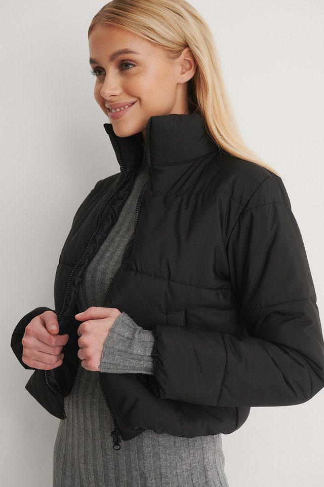 Black Puff Down Jacket