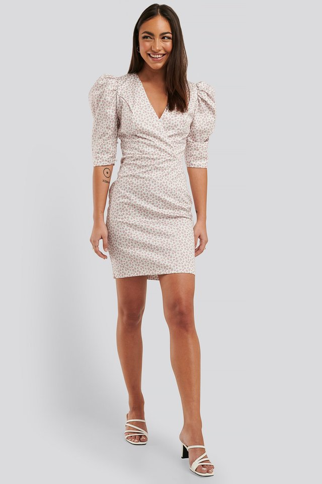 Puff Sleeve Mini Dress Trendyol