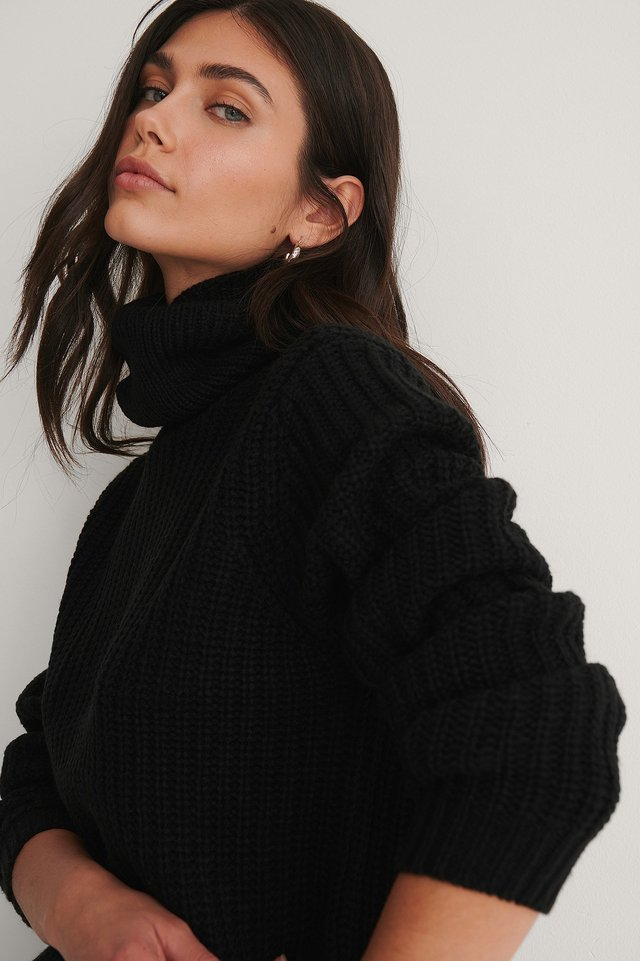 Tinelle Roll Knit Black