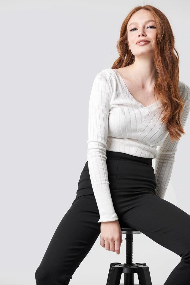 V-Neck Knitted Jumper Trendyol