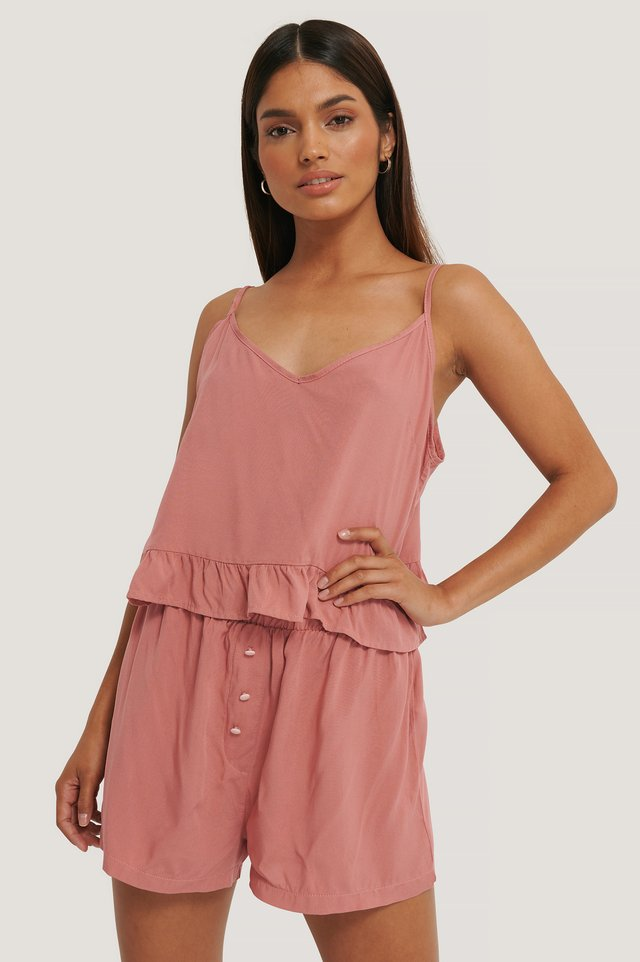 Viscose Pyjamas Set Dusty Rose