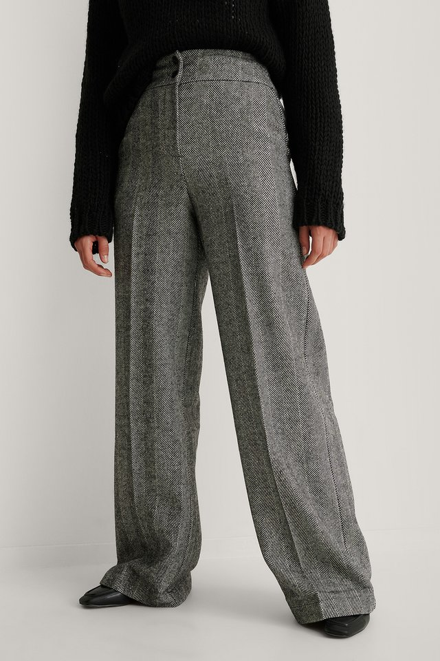 Antracite Wide Detail Trousers