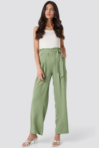 Mint Wos Binding Detailed Trousers