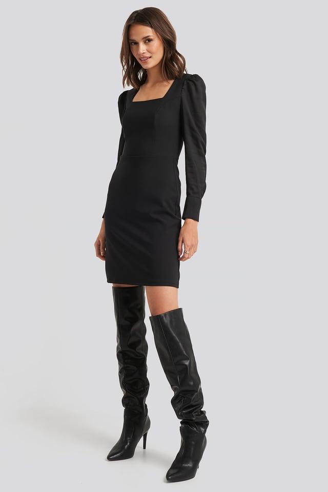 Black Yol Classic Mini Dress